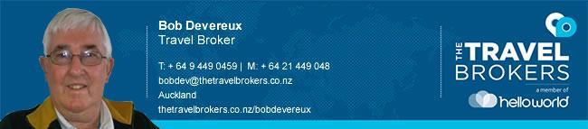 Travel Professional Bob Devereux - Auckland