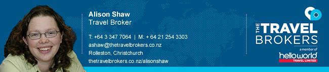 Travel Professional Alison Shaw - Christchurch
