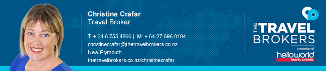 The Travel Brokers Travel Professional Christine Crafar -New Plymouth