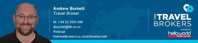The Travel Brokers Travel Professional Andrew Burnett - Rotorua