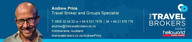 The Travel Brokers Travel Professional Andrew Prins - Auckland
