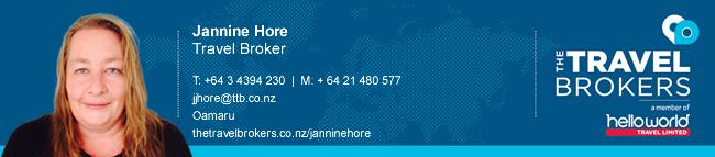 The Travel Brokers Travel Professional Jannine Hore - Oamaru