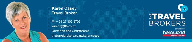 The Travel Brokers Travel Professional Karen Casey - Christchurch