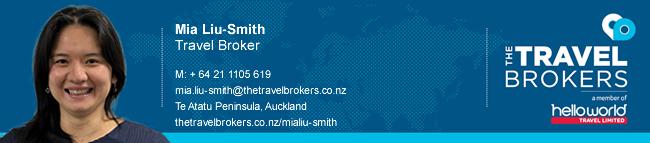 Travel Professional Mia Liu-Smith - Auckland