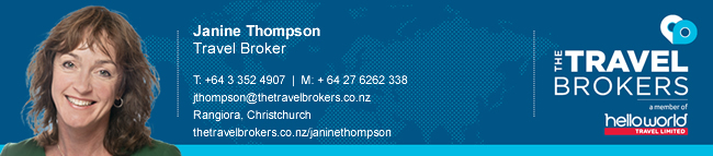 Travel Professional Janine Thompson - Christchurch