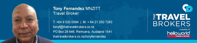 The Travel Brokers Travel Professional Tony Fernandez - Auckland