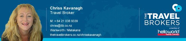 The Travel Brokers Travel Professional Chriss Kavanagh - Warkworth / Matakana