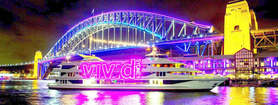 Vivid Sydney Harbour Lights